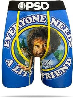 PSD Men's Bob Ross- Bob's Little Friend Athletic Boxer Brief- Blue