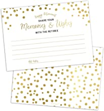 Set of 50 Retirement Memories and Wishes Cards by Hat Acrobat | Perfect for Happy Retirement Party Games, Decorations, Sup...