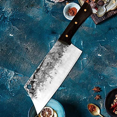Cuchillo de cocina forjado tradicional Set Mano Hammer Hammer Acero inoxidable Chef Cachillero Cuchillos Cuchillos Cuchillo de Carnicería Slicer (Color : One Knife 5)