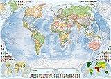 Politische Weltkarte, 140x100 cm, deutsch, matt