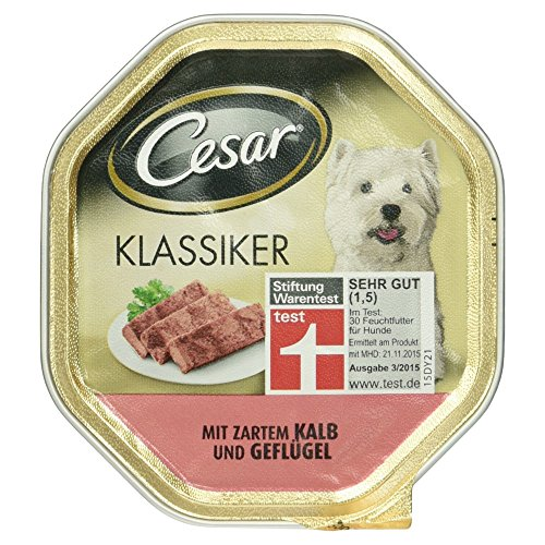 Cesar Hundefutter Klassiker mit Zartem Kalb und Geflügel, 150g