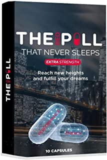 The Red Pill That Never Sleeps, Fast Acting Amplifier for Strength, Performance, Energy, and Endurance, Extra Strength 10 ...