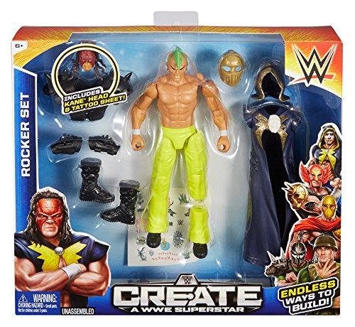 WWE – Create a WWE Superstar – Kane Rocker – Figurine Personnalisable 15 cm