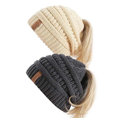 4c2b88b70 Beanie Ponytail Hats: Amazon.ca