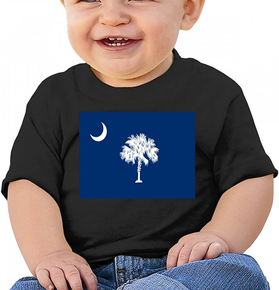 South Carolina State Flag Baby T Shirts Infant Short Sleeve Top for Boys and Girls