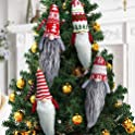 4-Pack Lurlin Large Gnome Christmas Plush Ornaments