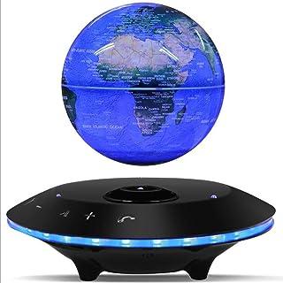 "XZYP Globy, 6"" LED 360° roterande lysande magnetisk viterande flytande glob med Bluetooth-högtalare för skrivbord kontor h..."