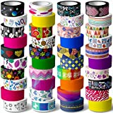 40 Rolls Washi Tape Set - 15 mm Wide Colored Masking Tape for Kids and Аdults,Decorative Adhesive for DIY Crafts,Gift Wrapping, Scrapbooking Supplies,Bullet Journals,Planners,Party Decorations