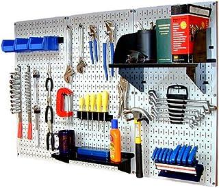 Wall Control 30-WRK-400WB Standard Workbench Metal Pegboard Tool Organizer,White/Black