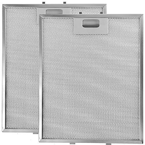 SPARES2GO Metallnetzfilter für Homeking FW60.2SS Dunstabzug/Abzugshaube Entlüftungsöffnung (318 x 258 mm, VE 2)