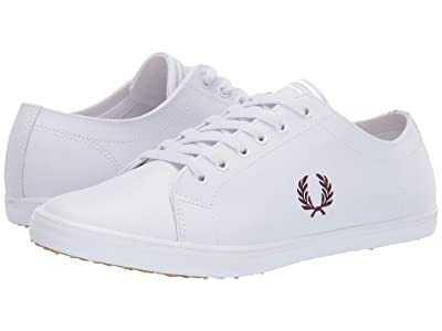 Fred Perry Kingston Leather (White/Port) Men