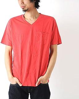 [ヘインズ] Hanes Vネック ポケットTシャツ Lサイズ 940-レッド