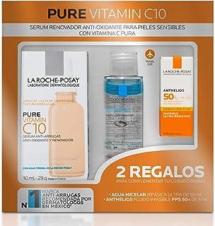 La Roche-Posay La roche posay kit de serum facial anti-oxidante para pieles sensibles con vitamina c pura + desmaquillante...