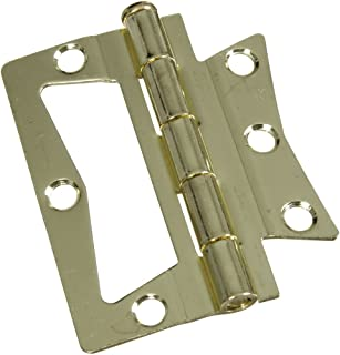 National Hardware N244-780 V535 Surface-Mounted Hinges in Brass, 2 pack