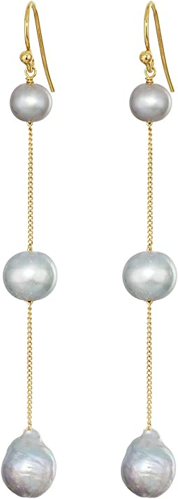 Pearl Tiered Drop Earrings
