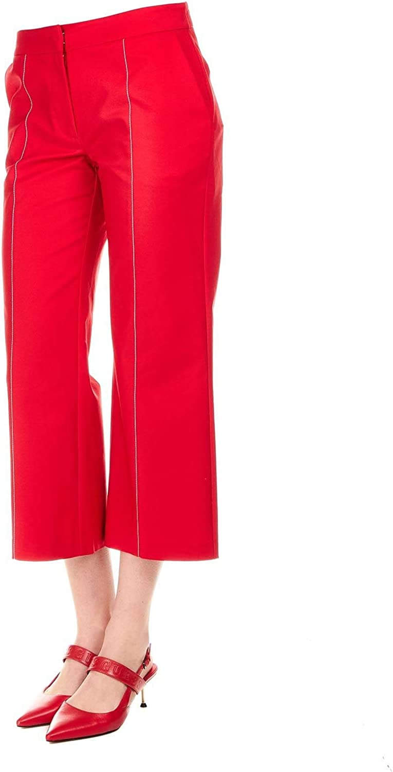 Silvian Heach Women's PGP19585PAPOPPY Red Cotton Pants