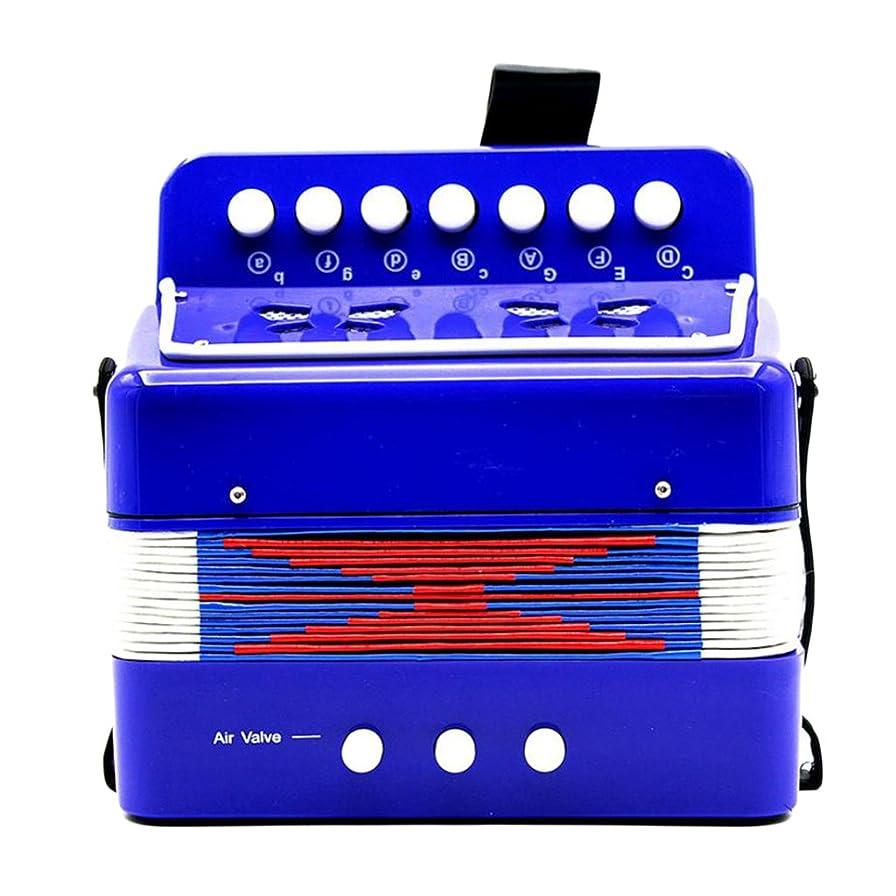 フィードマニアック暴力的な子供のパーカッションのアコーディオンの音楽のおもちゃ子供の楽器の黒 - 青