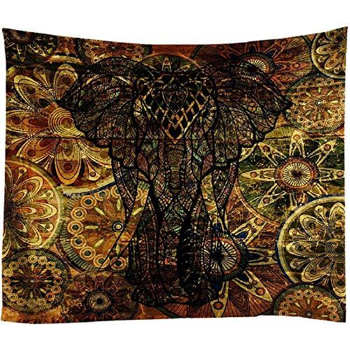 AdoDecor Tapiz de Elefante Indio para Colgar en la Pared, tapices Bohemios, Manta de sofá Hippie de Animales, Toalla de Playa Retro para decoración del hogar, 40x60 Pulgadas