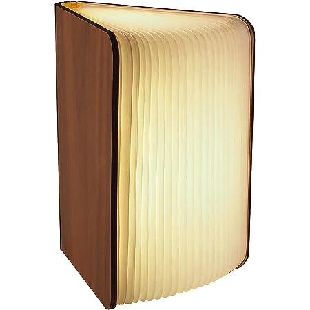 Gadgy ® Lampe de Livre (Grande) avec Fermeture Magnétique l Papier Tyvek de Qualité l Lueur de 3 Couleurs l Possibilités d'affichage Illimité jusqu'à 360 degrés