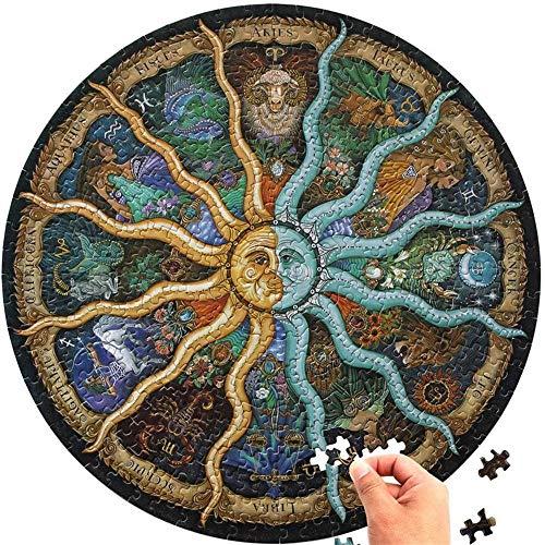 Rompecabezas redondo AChalks 1000 piezas para adultos del zodíaco Horóscopo rompecabezas circular constelación rompecabezas Divertido juego DIY decoración del hogar dormitorio para niños regalo
