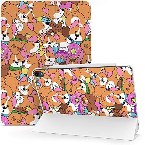 Lex Altern Case Compatible with iPad Pro 12.9 2020 11 Air 3 2 10.8 8th Gen 2019 2018 10.5 inch Mini 5 4 9.7 Protective Funny Puppies Corgi Clear Smart Cover Butt Donuts Cute Dog Pet Slim mch078