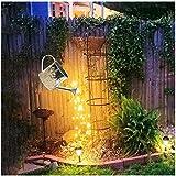 Soolike Star Shower Garden Art Light Dekoration,Silber Wire Vine Garten Dekoration Wegeleuchten,Sterne Zeigen Led String Light Dekoration Lichter für den Garten Rasen Terrasse Feld Weg Mit Halterung