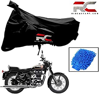 Riderscart All Season (Weather) Waterproof Bike Cover for Royal Enfield Bullet 350 Indoor Outdoor Protection Combo with St...