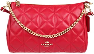 Coach Quilted Leather Carrie Crossbody - Classic Red