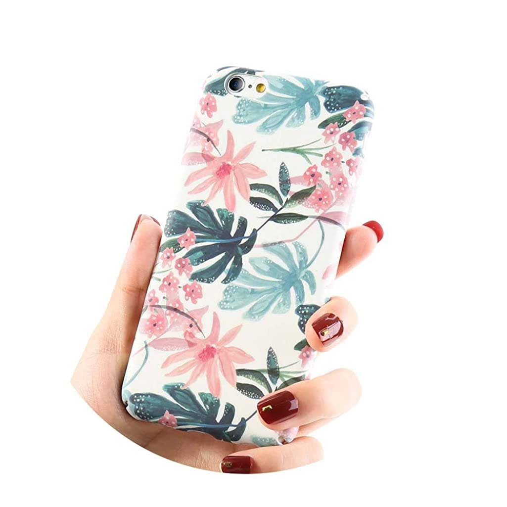 Tropical Style Hard Phone Case For iPhone X 8 Plus Cover Pink Turtle leaf For iPhone 7