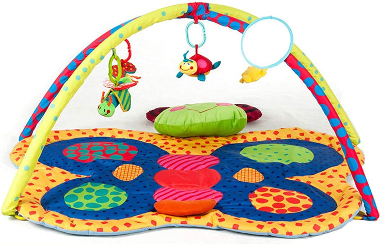Portable Crib Baby Furniture Folding Oversized Crawling Game Mat for 0-2 Years Old for Bedroom Travel Entertainment Puzzle Fitness Bed