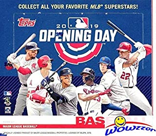 2019 Topps Opening Day MLB Baseball MASSIVE Factory Sealed HOBBY Box with 36 Packs & 252 Cards! Includes 1 Insert in EVERY PACK! Look for Autos of Mike Trout, Juan Soto, Aaron Judge & More! WOWZZER!