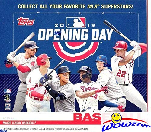 2019 Topps Opening Day MLB Baseball MASSIVE Factory Sealed HOBBY Box with 36 Packs with 252 Cards! Includes 1 Insert in EVERY PACK! Look for Autos of Mike Trout, Juan Soto, Aaron Judge & More! WOWZZER