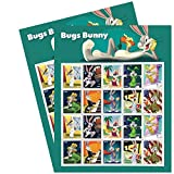 U.S. Forever Postage Stamps Celebrating Bugs Bunny & His Marvelous Masquerades Depicted in 10 Different Classic Costumes Over His 80 Year Career. 1 Pane of 20 Stamps (2 Stamp Sheets (40 Stamps))