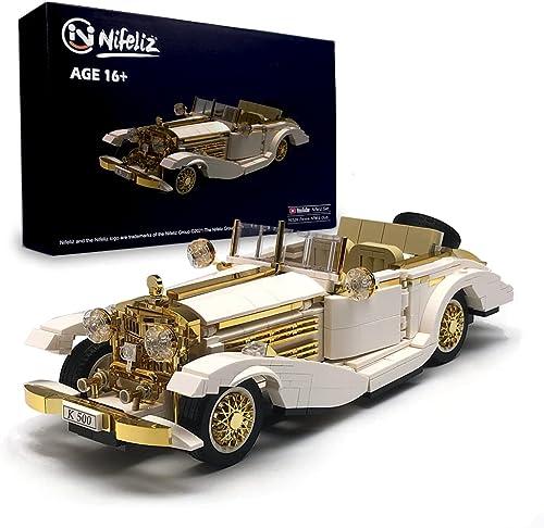 2021 Nifeliz Retro Sports car K500 online MOC Building Blocks 2021 and Construction Toy, Adult Collectible Model Cars Set to Build, 1:14 Scale Retro Car Model,NEW2021 (868 Pcs) outlet online sale