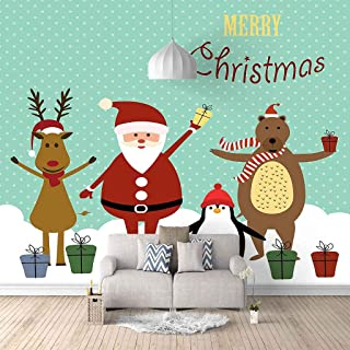 VITICP Adults Kids Wall Stickers Decals Peel and Stick Removable Wallpaper Cartoon Christmas Animal elk for Nursery Bedroo...