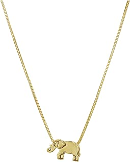 "Elephant 18"" Adjustable Necklace - Precious Metal"