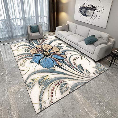 tappeto stanza da letto tapetto casa moderni soggiorno Soggiorno Camera da letto Pechino Carpet Moquette Floral Pattern di cristallo Velvet Facile da usare decorazioni camera da letto 200x280cm 6ft 6.