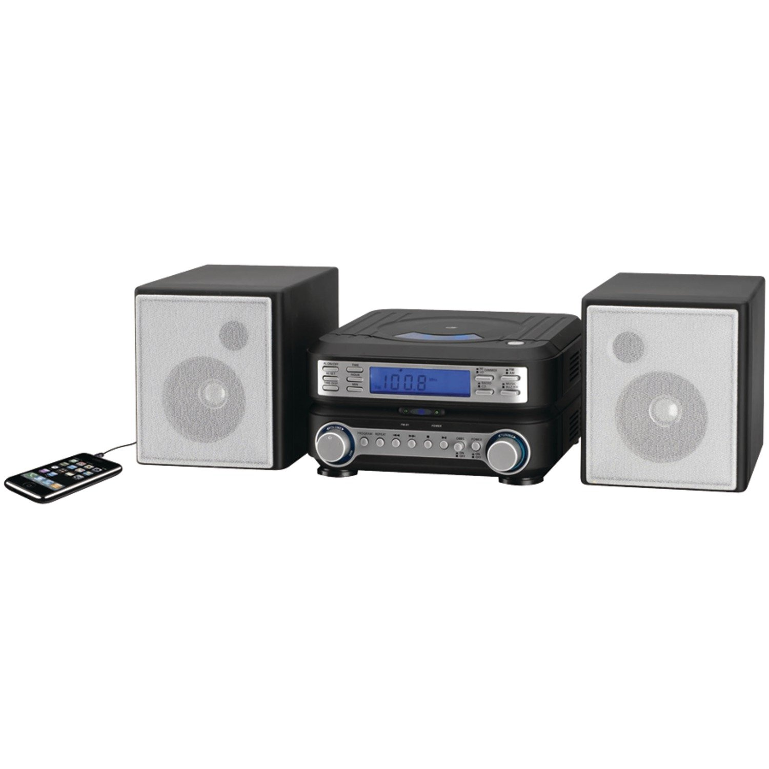 GPX HC221B Compact Player Stereo