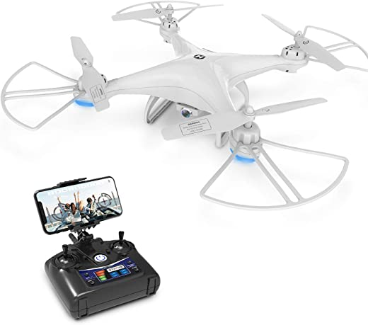 Drone with Camera, DEERC HS110D Drone for Beginners with 720P HD FPV Camera 120° FOV RC Quadcopter for Kids and...