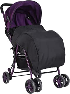 Newborn Baby Universal Foot Muff Stroller Buggy Pram Pushchair Snuggle Cover Windproof Waterproof (Black)