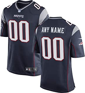 Dolaer Men's Brown Navy Patriot Custom Game Jersey