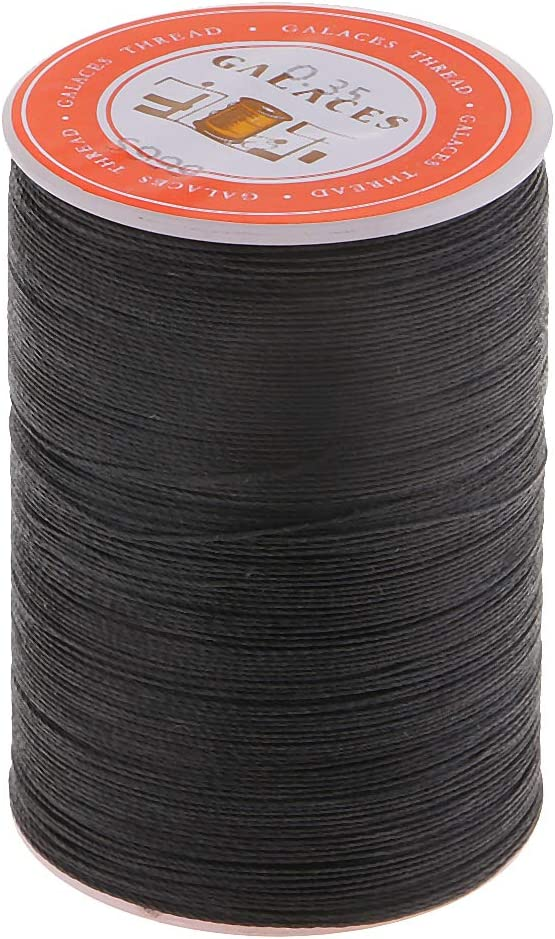 Black Baosity 300 Meters 0.35mm Leather Sewing Waxed Wax Thread Hand DIY Stitching Cord Crafts