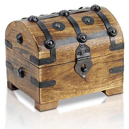 Brynnberg - Caja Madera Cofre Tesoro Pirata Estilo