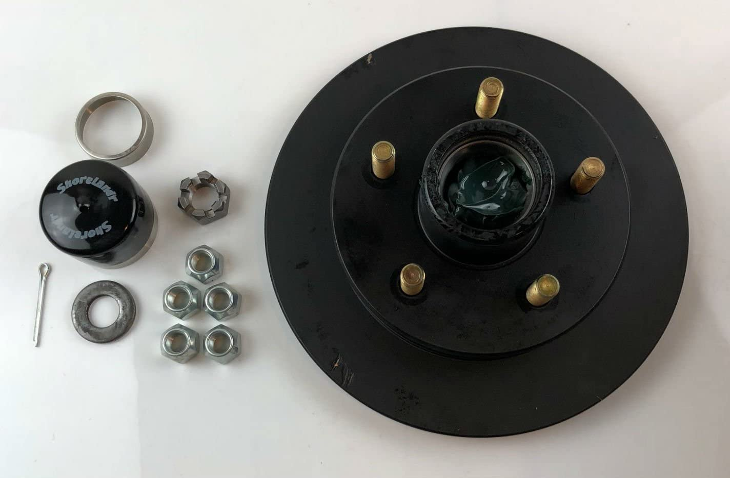 Shorelander SK0107 5 Bolt Hub - Vented Rotor Hardware 10 In Free shipping / New stock Disc