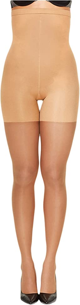 753cc7594 Spanx fishnet floral mid thigh shaping tights