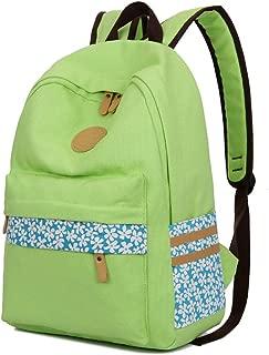 GLJ Canvas Backpack School Wind Small Fresh Girl Bag Backpack (Color : Green)