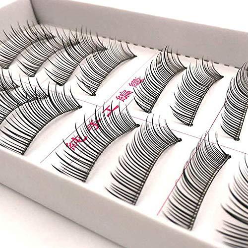 False Eyelashes 10 Pairs Reusable 3D Handmade Multipack Black Premium Quality Fashion Soft Natural Looking Style