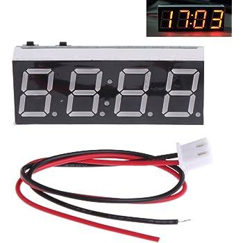 NAttnJf Voltmetro a LED per misuratore di Tensione Digitale da Pannello Universale per Auto Impermeabile 6-30V White