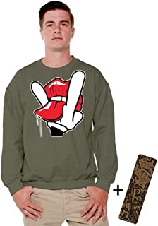 Awkwardstyles Cartoon Hands Licks Crewneck Licking Tongue Sweatshirt + Bookmark