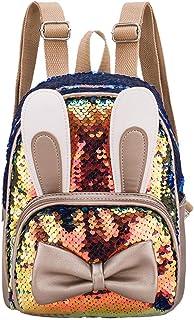 2020 New Sequins Backpack Teenage Girls Fashion Bling Rucksack Kids Students School Bag Animal Cute Small Bag